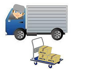 書類の回収と積荷