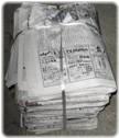 機密書類の溶解処理 新聞紙